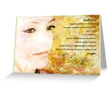 Sadness — Greeting card Greeting Card