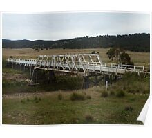 Foxlow Bridge over Molonglo River Poster