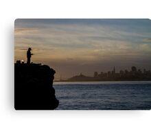 Fishing San Francisco... Canvas Print