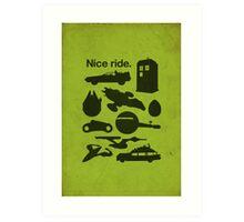 Nice Ride Art Print