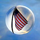 Flag Flying In A Bubble by Amyn Nasser