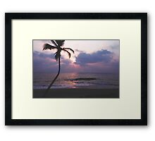 Seaside at Dusk Framed Print