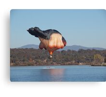 Over the boat, Sky Whale Canberra Canvas Print