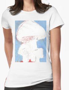 Big white fungi tshirt Womens Fitted T-Shirt