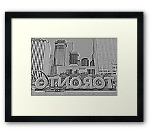 Toronto Nathan Phillips Square Framed Print