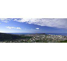 Honolulu and Diamondhead Photographic Print