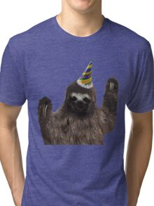 Party Animal - Sloth Tri-blend T-Shirt