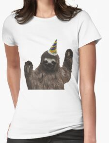 Party Animal - Sloth Womens Fitted T-Shirt