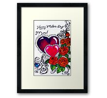 mother's day card Framed Print
