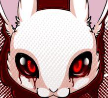 Clique Bunnies - Blood - White Rabbit Sticker