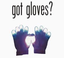 Got Gloves? Rave Tee (Black Writing) by whatthefart