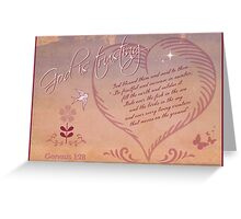 ~ God is Trusting ~ Greeting Card