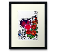 mother's day card without words Framed Print