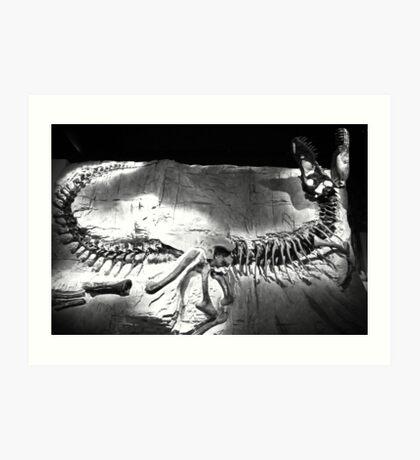 Full T-rex Fossil Art Print