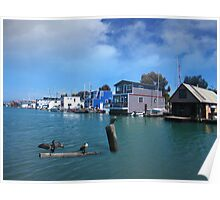 Mission Creek House Boats Poster