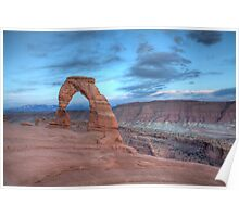 Sunset at The Delicate Arch, Moab, Utah Poster