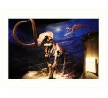 Sabertooth attacking Mammoth Art Print