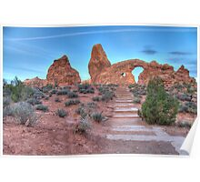 Early Morning Turret Arch 2 Poster