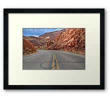 Arches Scenic Highway, Moab, Utah Framed Print