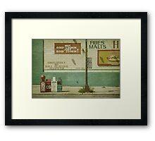 Diner Rules Framed Print