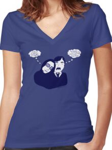 first date Women's Fitted V-Neck T-Shirt