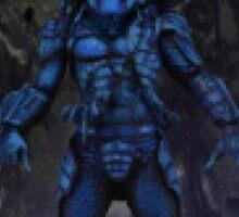 8 Bit Predator In Jungle Sticker