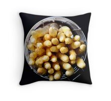 White asparagus on black Throw Pillow