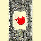 USA 1 DOLAR with apple Stamp iphone 5, iphone 4 4s, iPhone 3Gs, iPod Touch 4g case by Pointsalestore .com
