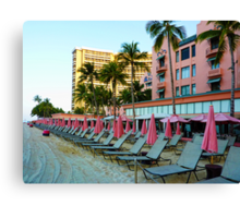 Pink Palace - Royal Hawaiian Canvas Print