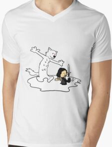 Jon and Ghost Mens V-Neck T-Shirt