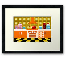 70's Kitchen Framed Print