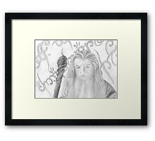 Gandalf the grey sketch Framed Print