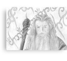 Gandalf the grey sketch Canvas Print