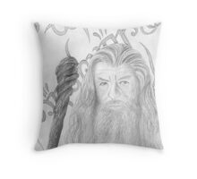 Gandalf the grey sketch Throw Pillow