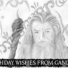 Gandalf the grey sketch-Birthday Card by Chris Neal