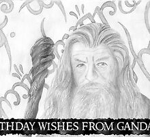 Gandalf the grey sketch-Birthday Card by ChrisNeal