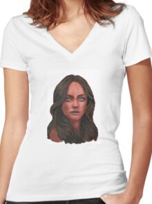 Amanda Seyfried - as Pocahontas Women's Fitted V-Neck T-Shirt