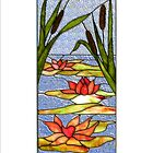 Glas Window - Water Lily - I-phone case  by scatharis