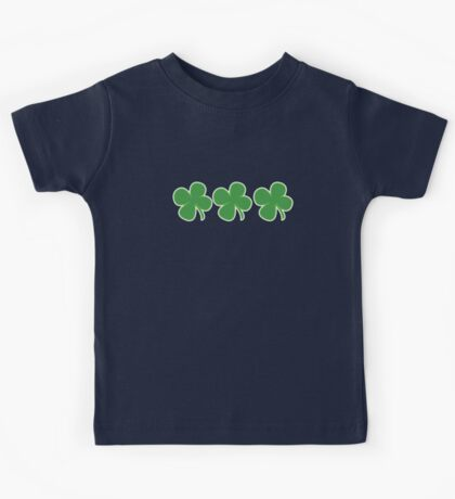 3 Clovers St Patricks Day Kids Tee
