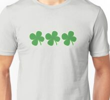 3 Clovers St Patricks Day Unisex T-Shirt