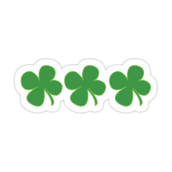 3 Clovers St Patricks Day by CarbonClothing