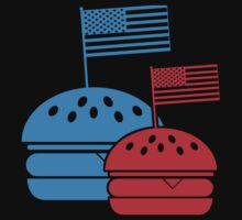 4th July American Burgers Baby Tee