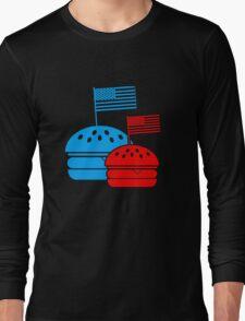 4th July American Burgers Long Sleeve T-Shirt