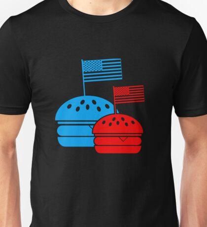 4th July American Burgers Unisex T-Shirt
