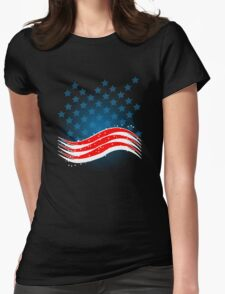 4th July - Independence Day - American Flag Womens Fitted T-Shirt