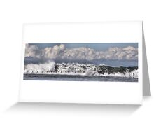 Moody Seas over the Canoe Pool - Newcastle Beach NSW Australia Greeting Card