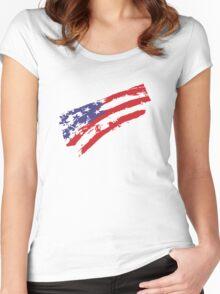 Graffiti USA Flag Women's Fitted Scoop T-Shirt