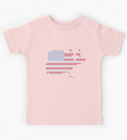 Dot Matrix USA 4th July Kids Tee