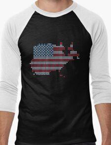 Dot Matrix USA 4th July Men's Baseball ¾ T-Shirt