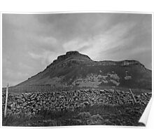 Pen-y-Ghent Black & White Poster
